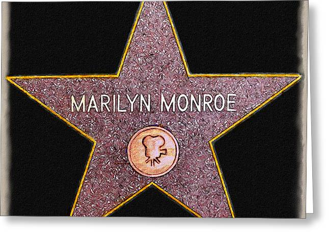 Marilyn Monroe's Star Painting  Greeting Card by Bob and Nadine Johnston