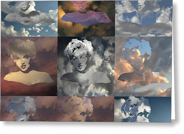 Marilyn Monrow Nine Times In The Sky Greeting Card by Jim Alford