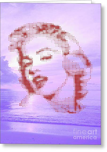 Marilyn On Velvet Beach Greeting Card by Rodolfo Vicente