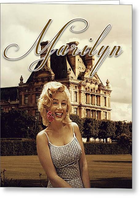 Marilyn Paris Monroe Greeting Card by Greg Sharpe