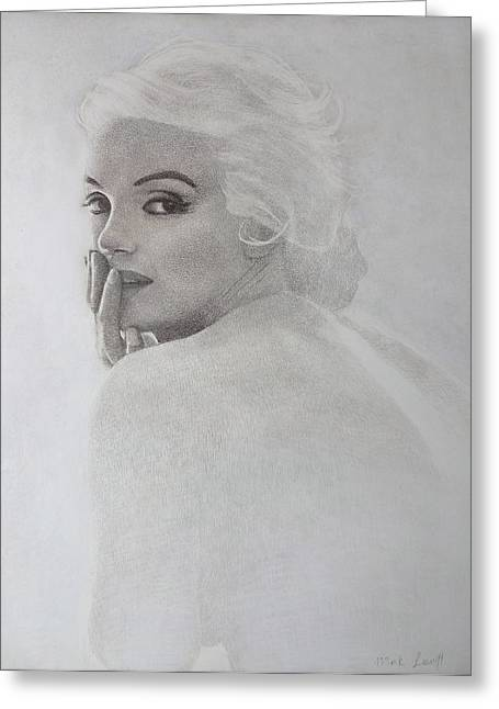 Marilyn Profile Greeting Card