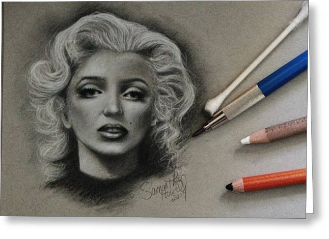 Marilyn Greeting Card by Samantha Howell