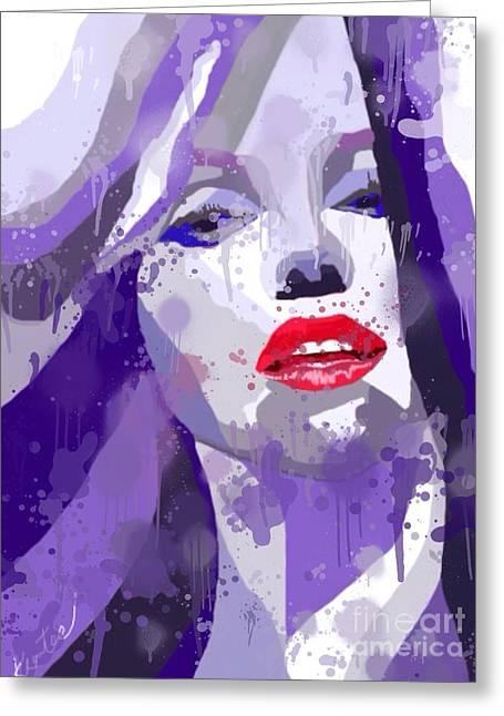Marilyn Splash Greeting Card