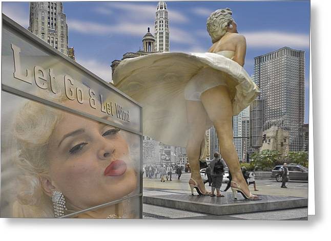 Marilyn Statue On Michigan Ave. Greeting Card