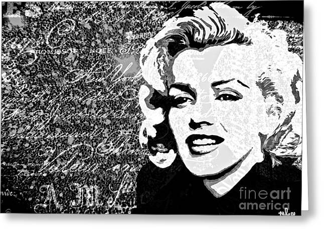 Marilyn You Were Meant To Be Loved Greeting Card by Saundra Myles