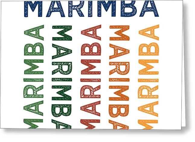 Marimba Cute Colorful Greeting Card by Flo Karp