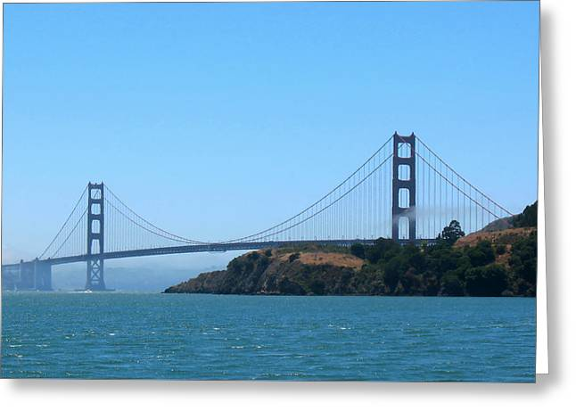 Marin County View Of The Golden Gate Bridge Greeting Card by Connie Fox