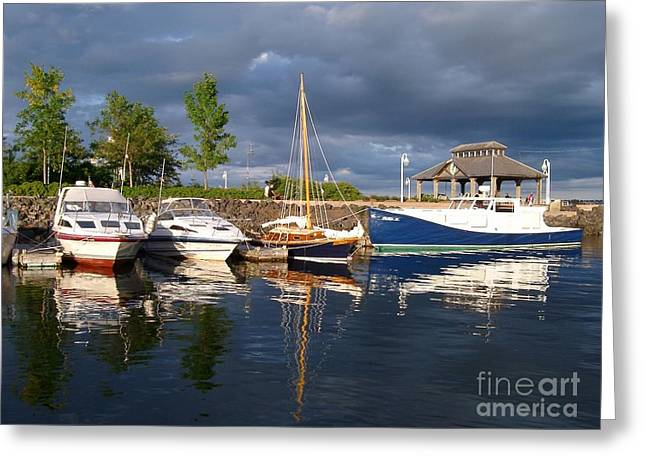 Marina At Charlottetown Prince Edward Island Greeting Card