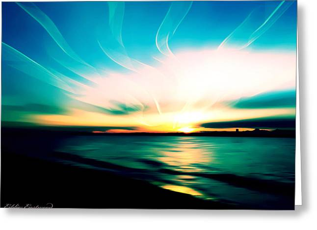 Marina Beach Park At Edmonds Washington Waterfront Greeting Card