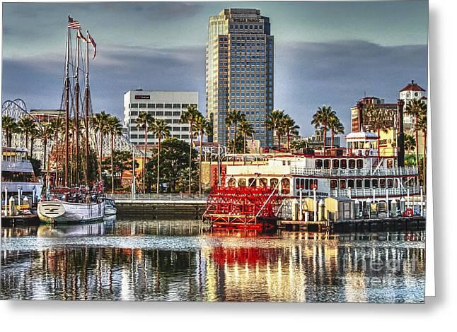 Marina Before Sunset Greeting Card by Pam Vick