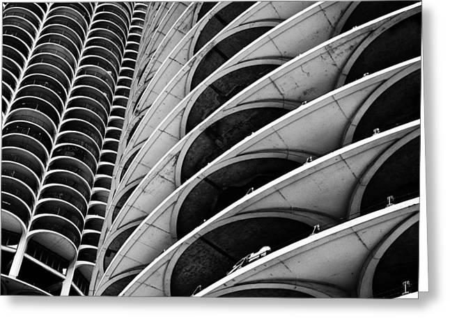 Marina City - Chicago 3 Greeting Card