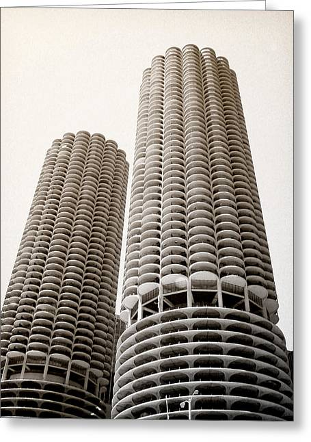 Marina City Chicago Greeting Card by Julie Palencia
