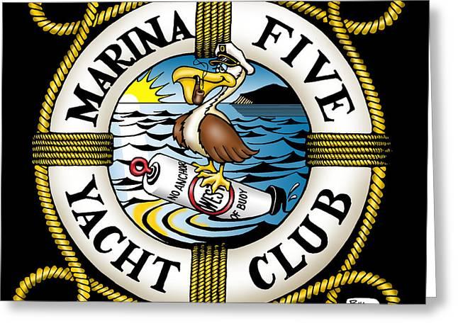 Marina Five Yacht Club Greeting Card