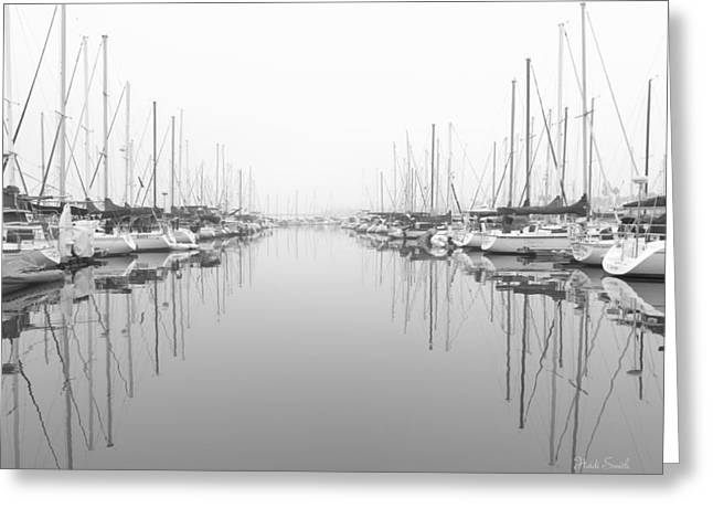 Greeting Card featuring the photograph Marina - High Key by Heidi Smith