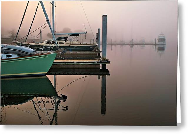 Greeting Card featuring the photograph Marina Morning by Laura Ragland