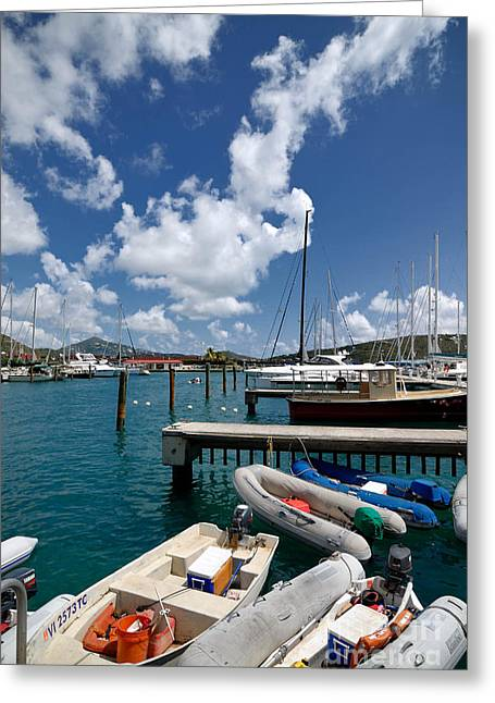 Marina St Thomas Virgin Islands Greeting Card by Amy Cicconi
