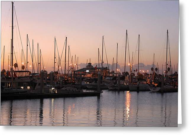 Marina Sunrise 12 Greeting Card