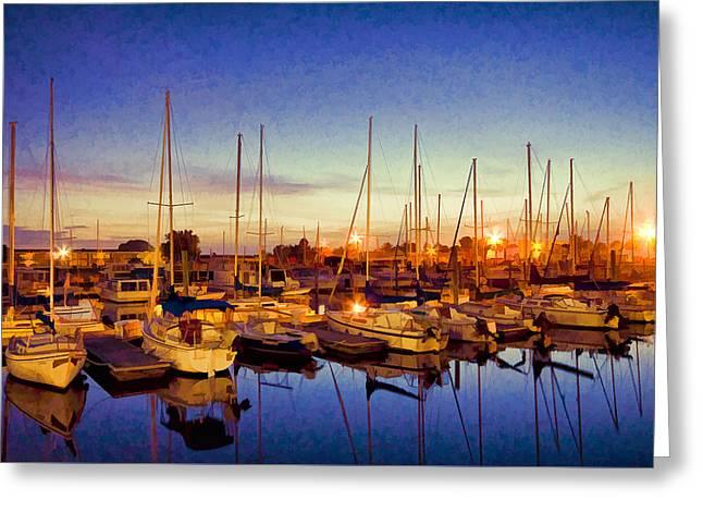 Marina Sunrise Greeting Card