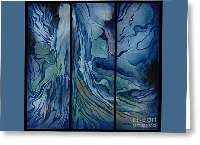 Marina Triptych Greeting Card