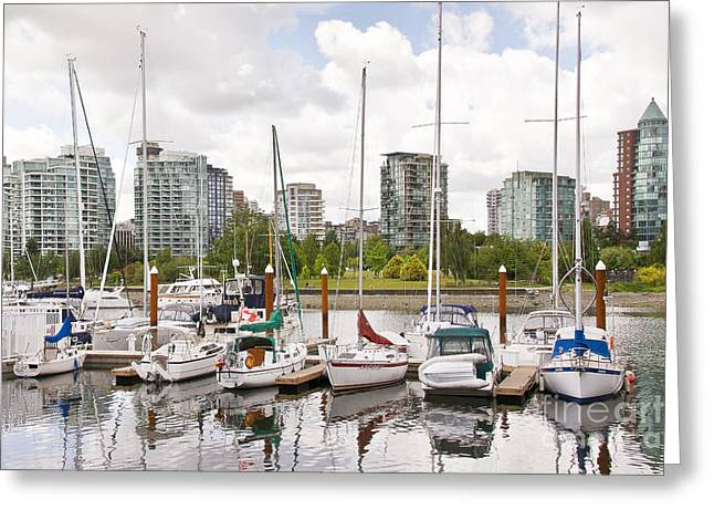 Marina Vancouver Greeting Card by Ivy Ho
