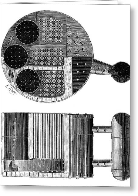 Marine Boiler Greeting Card by Science Photo Library