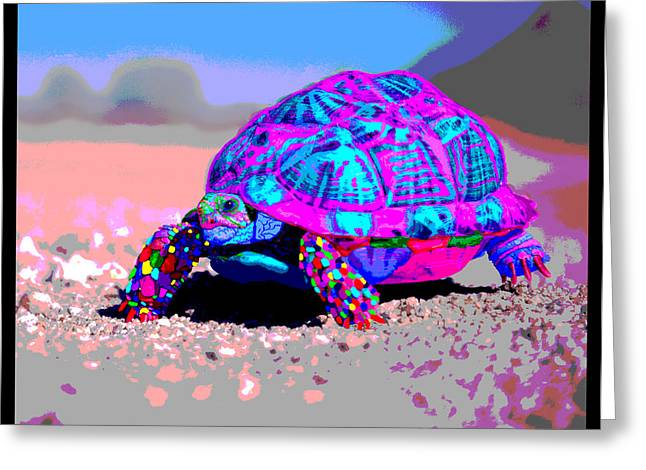 Marine Corporal's Turtle In Peace Paint V11 Greeting Card by Kenneth James