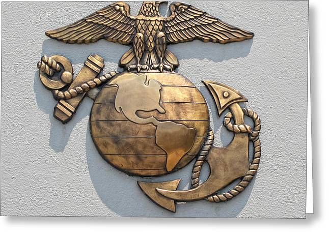 Marine Corps Logo Greeting Card