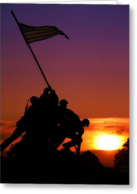 Marine Corps Memorial Greeting Card by Mitch Cat