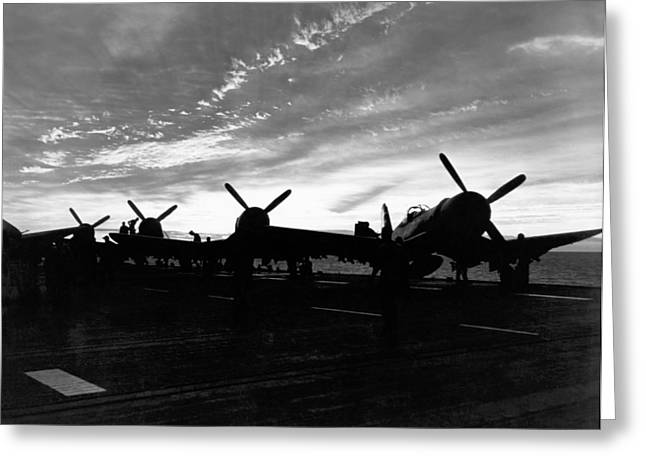 Marine Corsair F4us Greeting Card by Underwood Archives