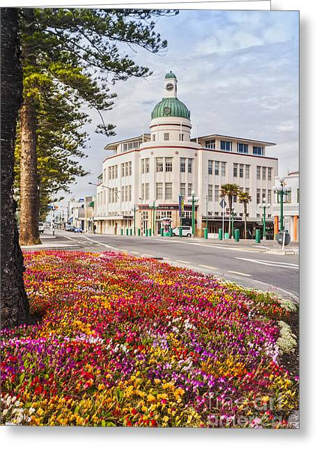 Marine Parade In Spring Napier New Zealand Greeting Card by Colin and Linda McKie