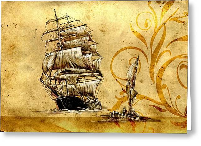 Marine Sea 12 Greeting Card