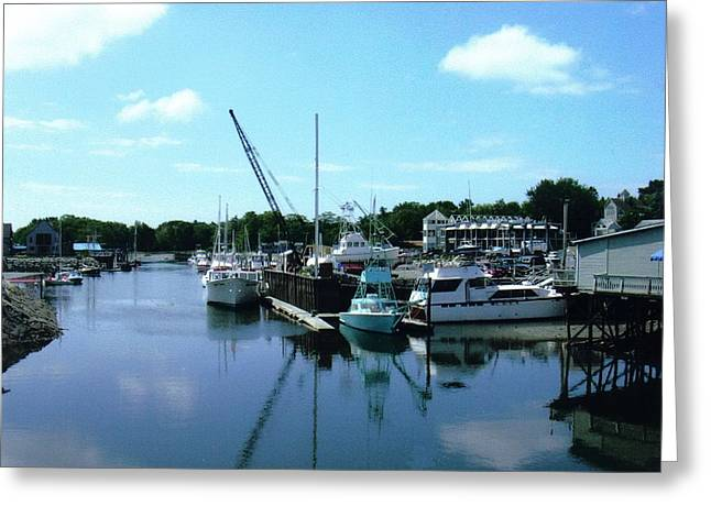 Mariner Harbor Greeting Card by Dusty Reed