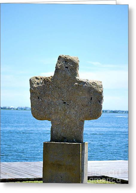 Greeting Card featuring the photograph Mariners Cross by Bob Sample