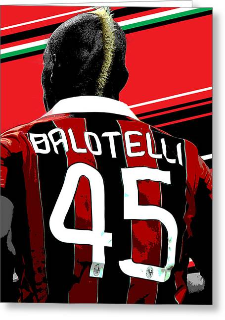 Mario Balotelli Ac Milan Print Greeting Card