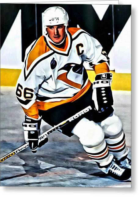 Mario Lemieux Greeting Card