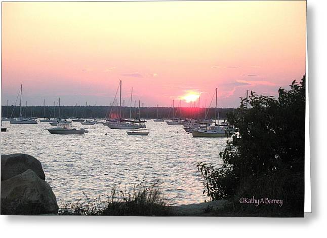 Marion Massachusetts Bay Greeting Card by Kathy Barney