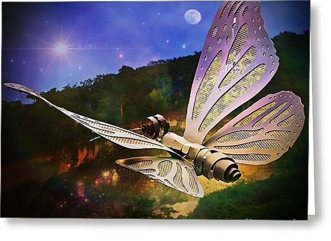 Mariposa Galactica Greeting Card by Lilliana Mendez