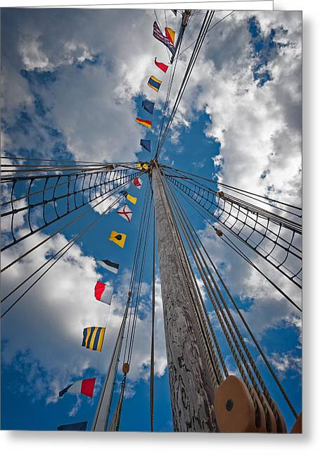 Maritime Signal Flags Greeting Card by Bill Wakeley