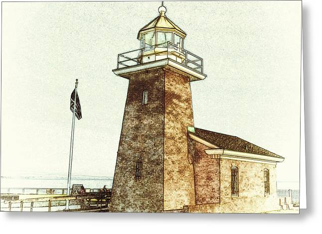 Mark Abbott Lighthouse Santa Cruz California Greeting Card by Paul Topp
