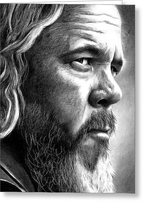 Mark Boone Jr Greeting Card by Rick Fortson