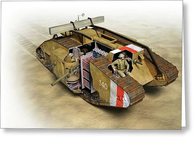 Mark Iv Tank Greeting Card