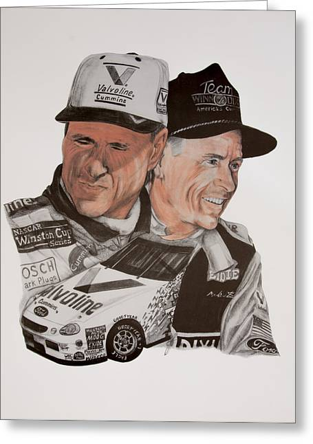 Mark Martin Race Car Driver Greeting Card by Joe Lisowski