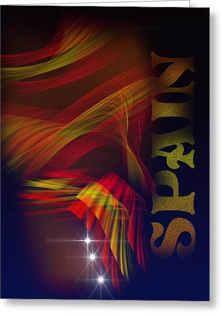 Greeting Card featuring the digital art Mark Spain by Angel Jesus De la Fuente