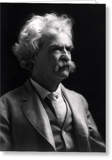 Mark Twain  Greeting Card by Daniel Hagerman