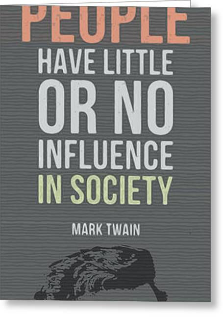 Mark Twain Quote - Clothes Make The Man Greeting Card by Pablo Franchi