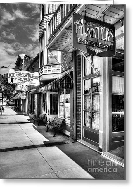 Mark Twain's Town Bw Greeting Card by Mel Steinhauer