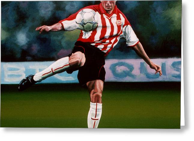 Mark Van Bommel Greeting Card by Paul Meijering