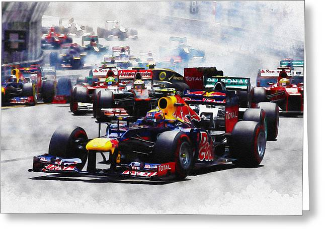 Mark Webber Greeting Card