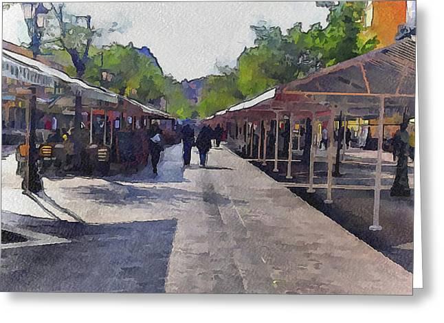 Market At Nice 2 Greeting Card