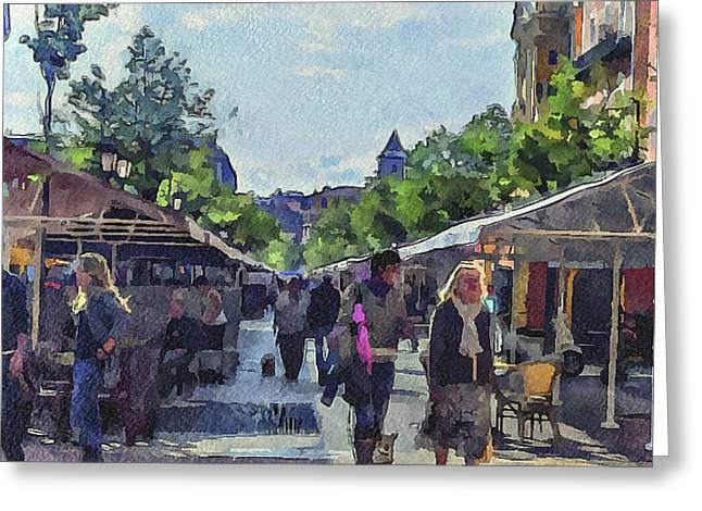 Market At Nice Greeting Card